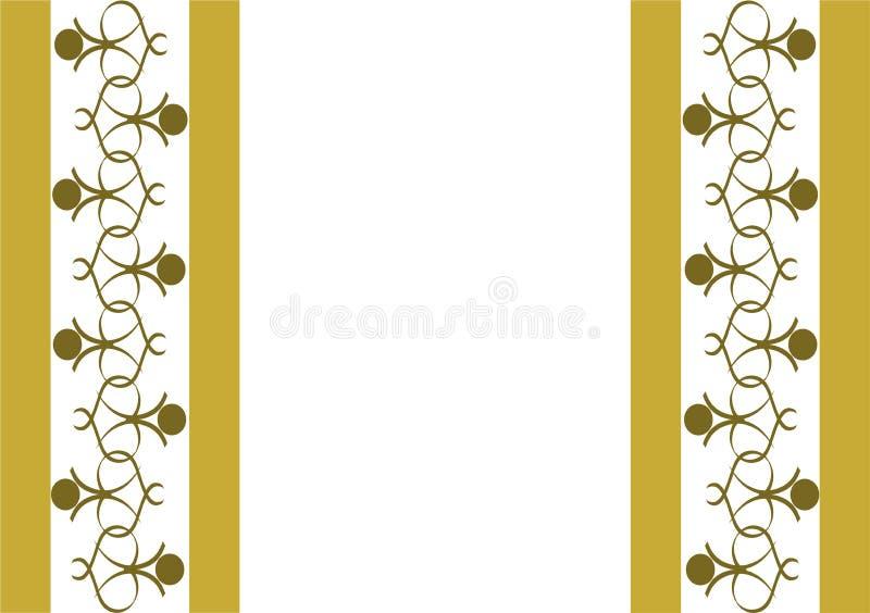 Gouden Hart, kunstmalplaatje, Achtergrond vector illustratie