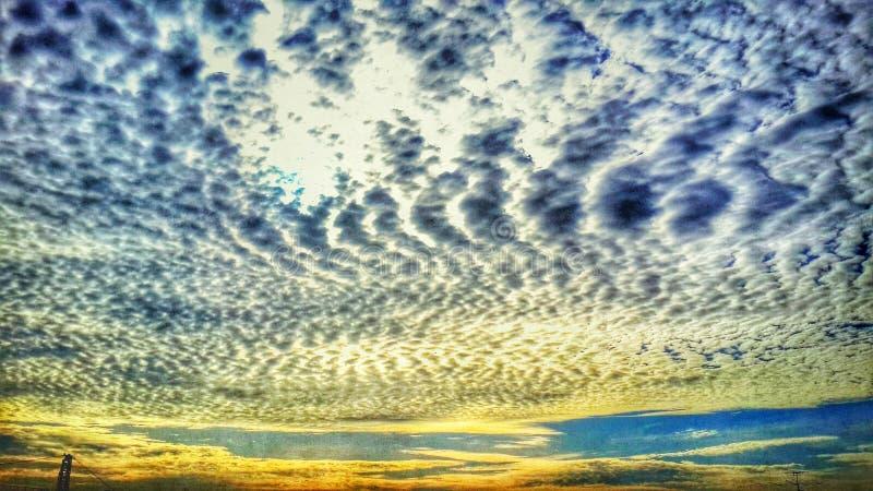 Gouden hemel stock foto