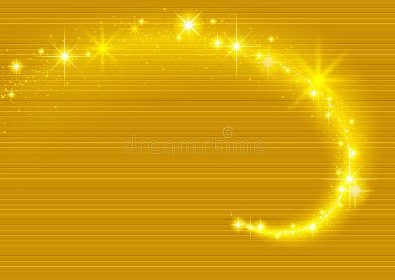 Gouden het Fonkelen Stroomeffect vector illustratie