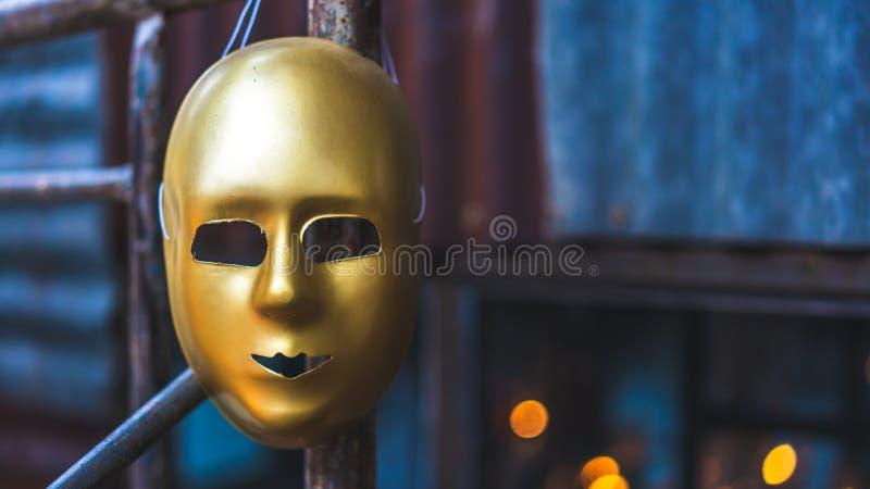 Gouden het Gezichtsmasker van de Maskeradeberoemdheid royalty-vrije stock fotografie