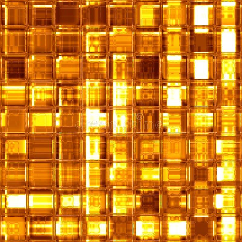 Gouden het glasmozaïek van de luxe stock illustratie