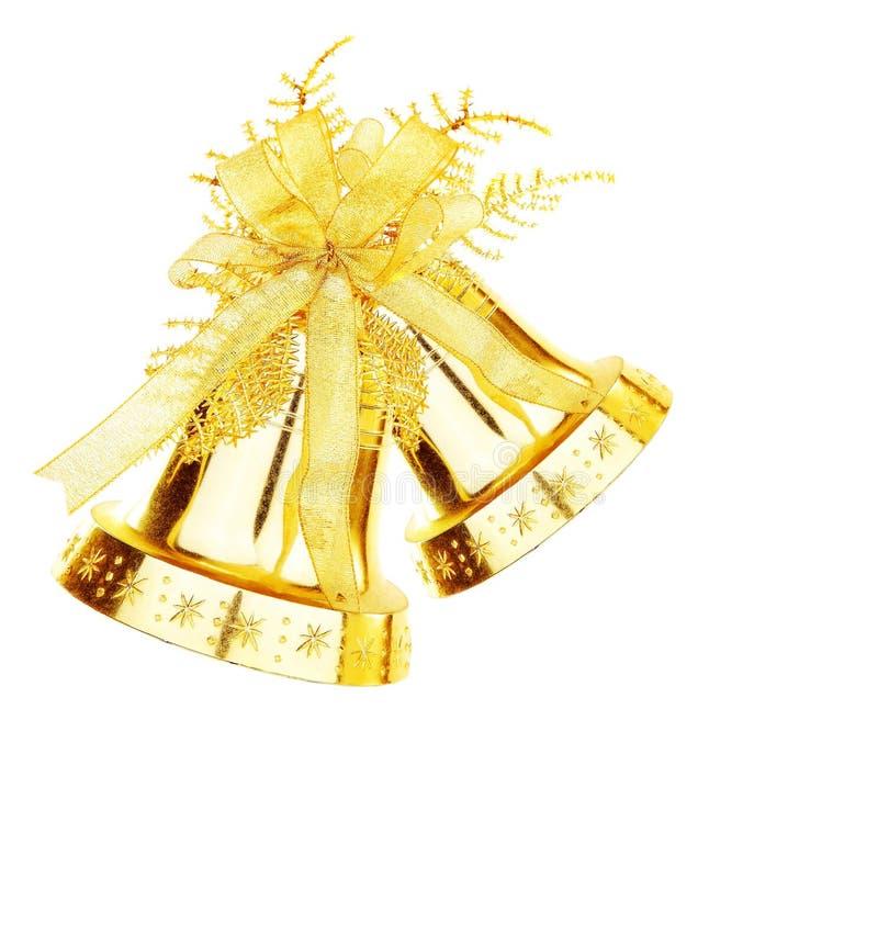 Gouden het kenwijsjeklok van Kerstmis stock fotografie