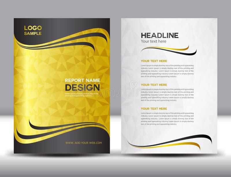 Gouden het ontwerp vectorillustratie van het Dekkings jaarverslag vector illustratie