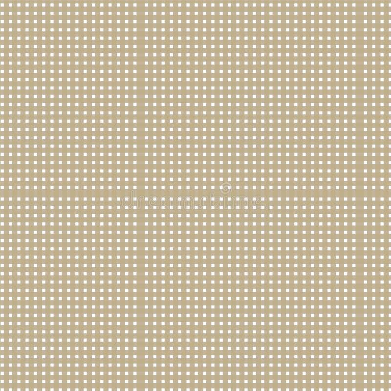 Gouden het patroonachtergrond van het schaduw gestreepte weefsel royalty-vrije stock afbeelding