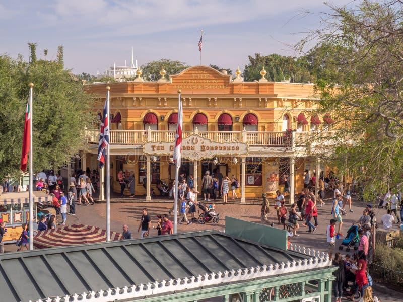 Gouden Hoef in Frontierland bij Disneyland Park royalty-vrije stock afbeelding