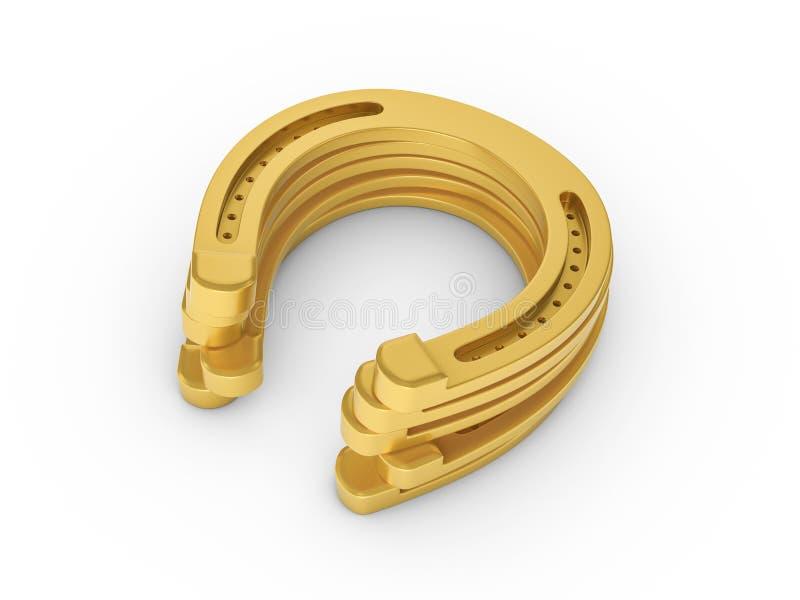 Gouden hoeven stock illustratie