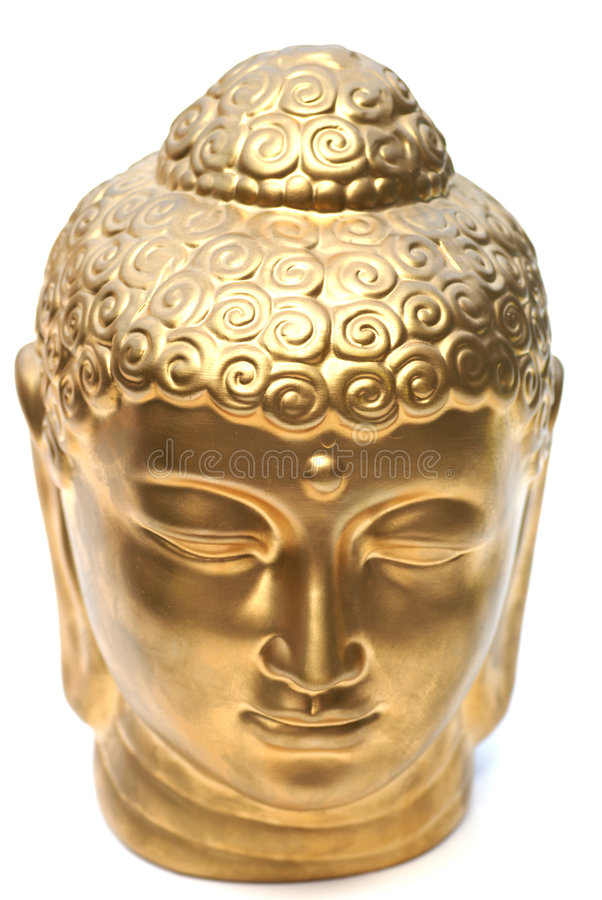 Gouden hoofd. royalty-vrije stock foto