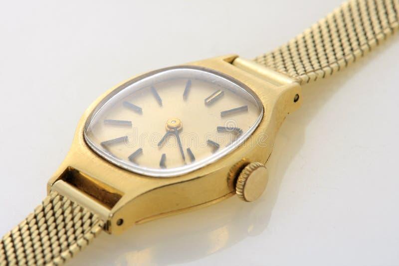 Gouden horloge stock foto's
