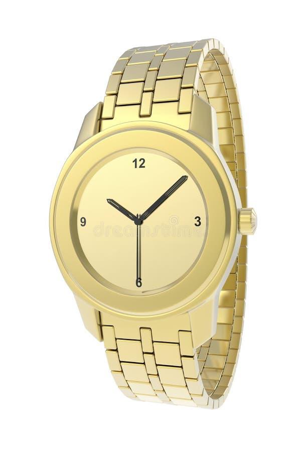 Gouden horloge stock illustratie