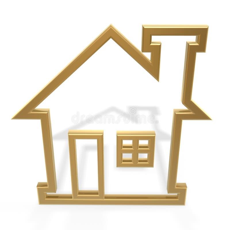Gouden huis vector illustratie