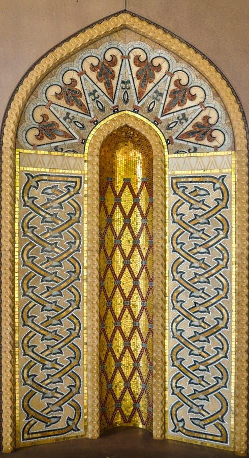 Gouden Islamitisch art. royalty-vrije stock foto's