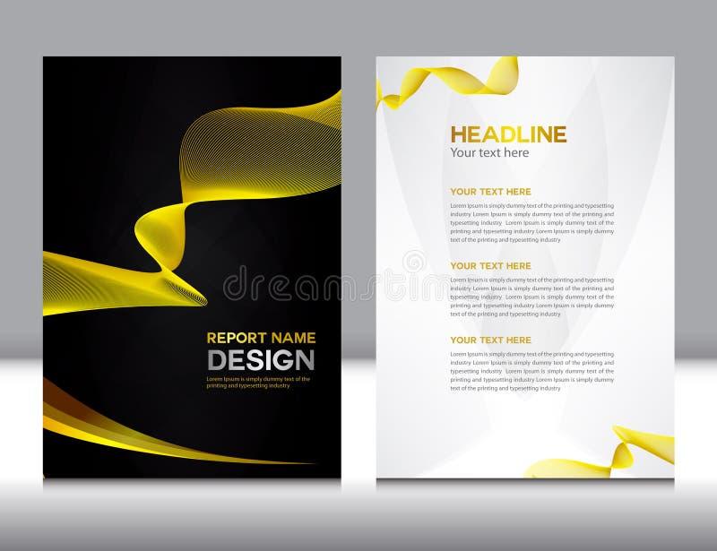 Gouden jaarverslag Vectorillustratie royalty-vrije illustratie