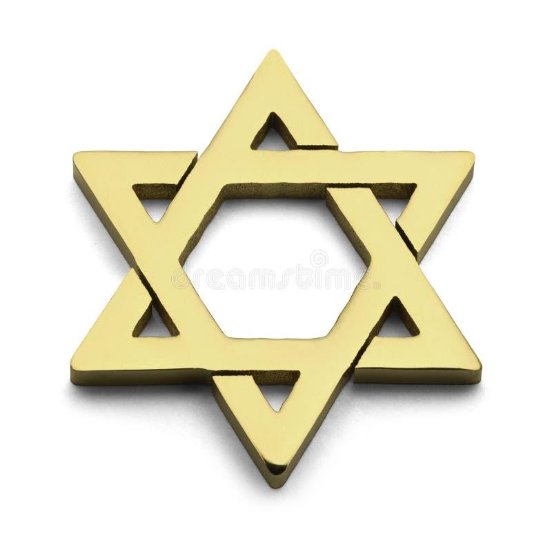 Gouden Jodenster stock afbeeldingen