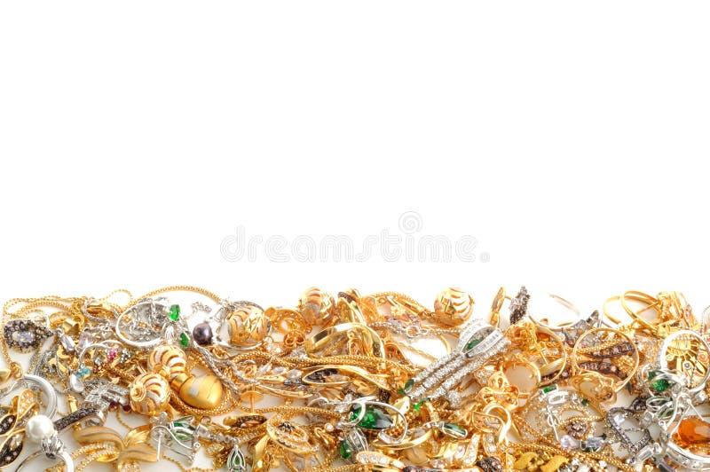 Gouden juwelen royalty-vrije stock foto's