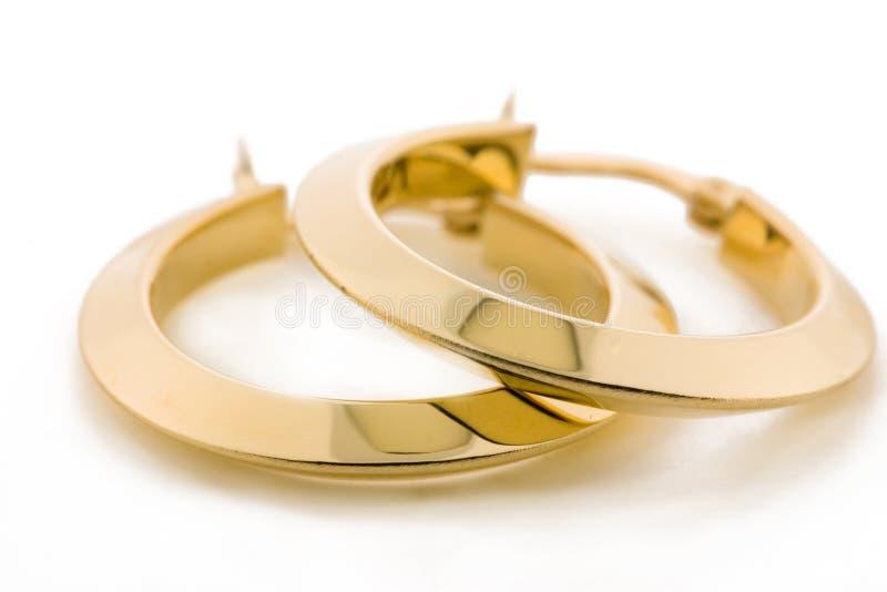 Gouden Juwelen - Oorringen royalty-vrije stock foto's