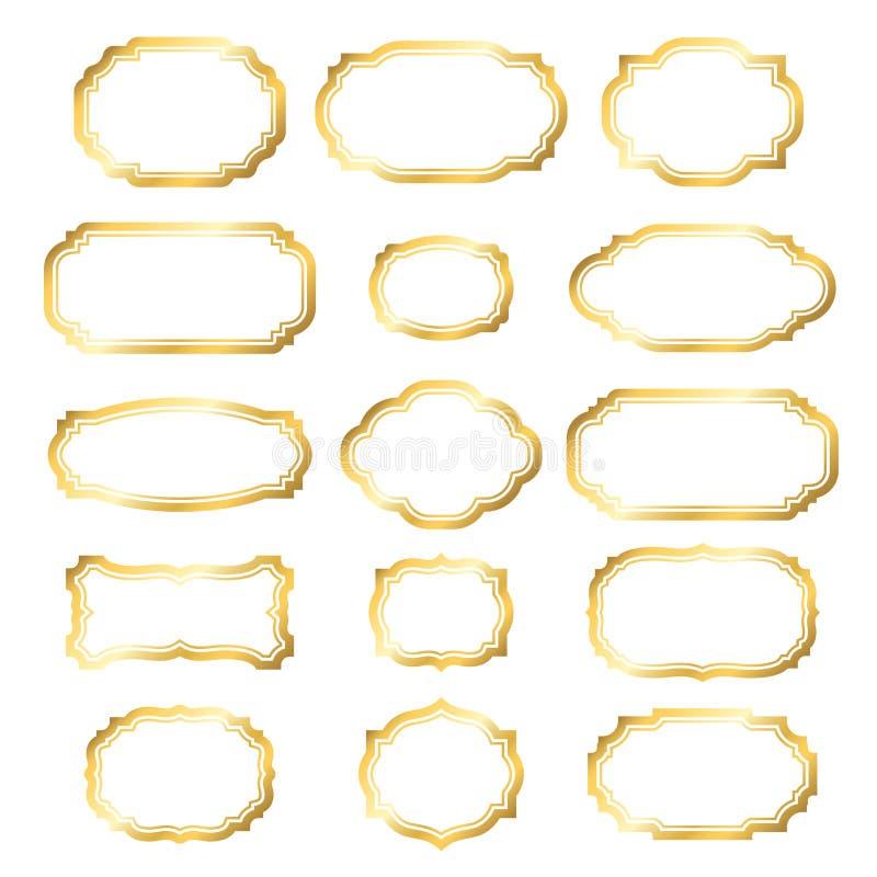 Gouden kader eenvoudige gouden stijl royalty-vrije illustratie