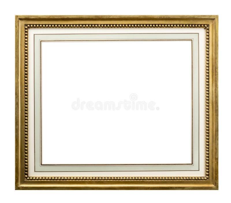 Gouden kader met binnenonderstel met 3 het knippen wegen royalty-vrije stock foto's