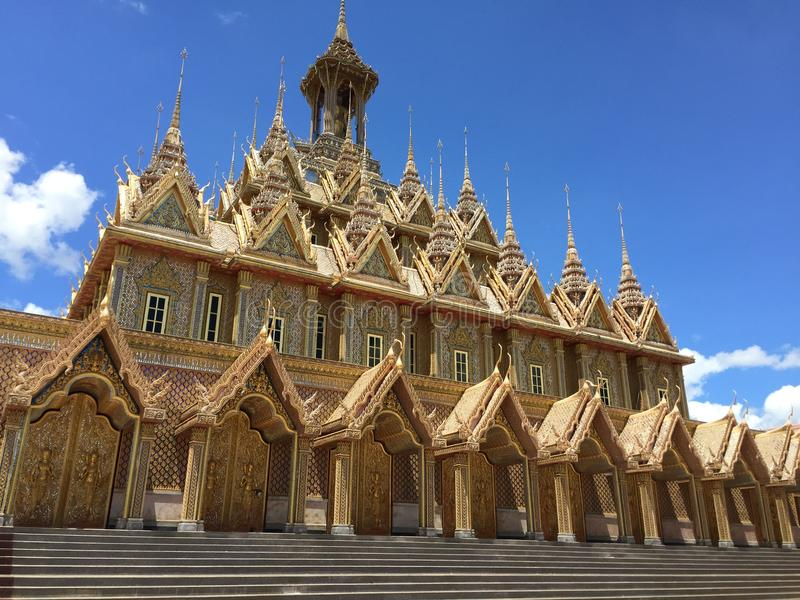 Gouden kasteel stock foto