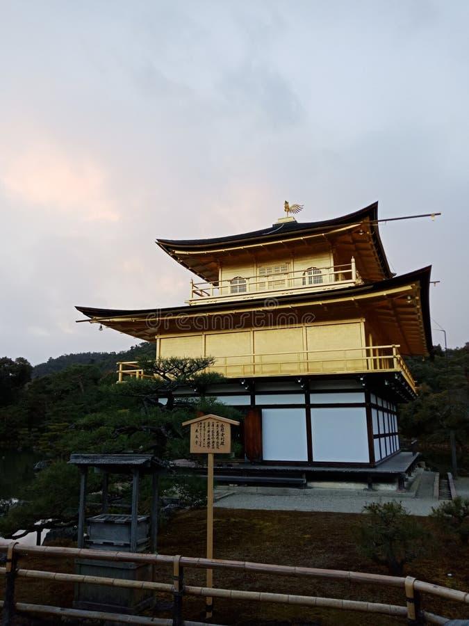 Gouden kasteel Kinkakuji Kyoto Japan royalty-vrije stock fotografie