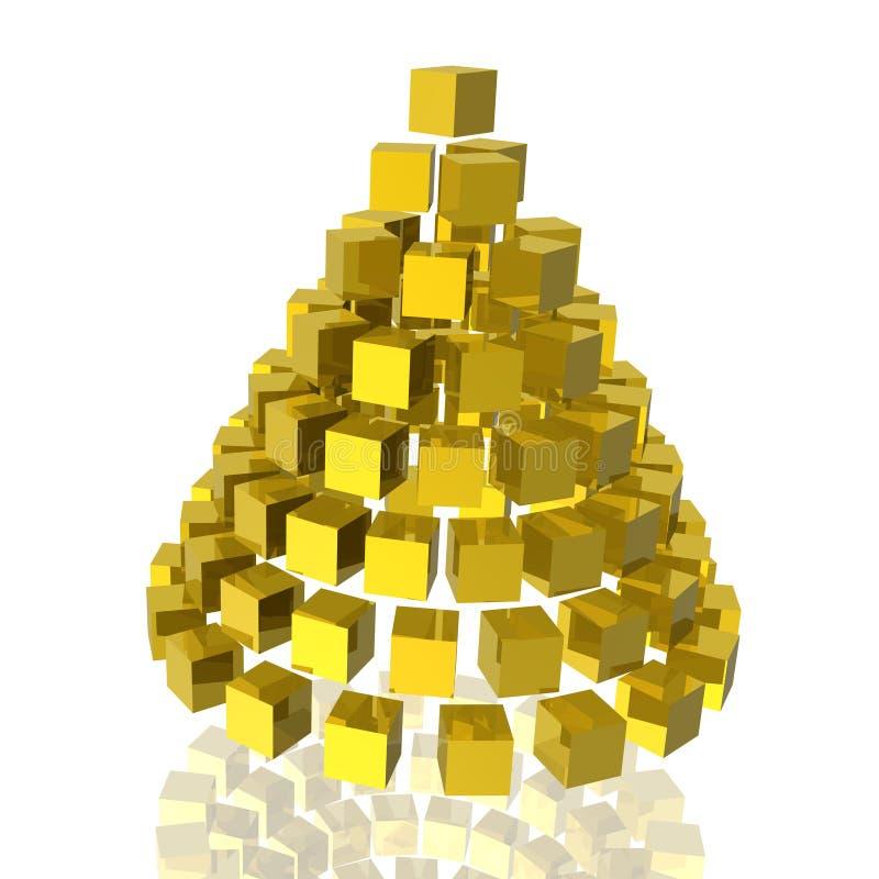Gouden kegel stock illustratie