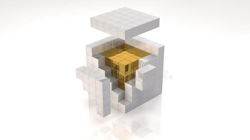 Gouden Kern stock illustratie