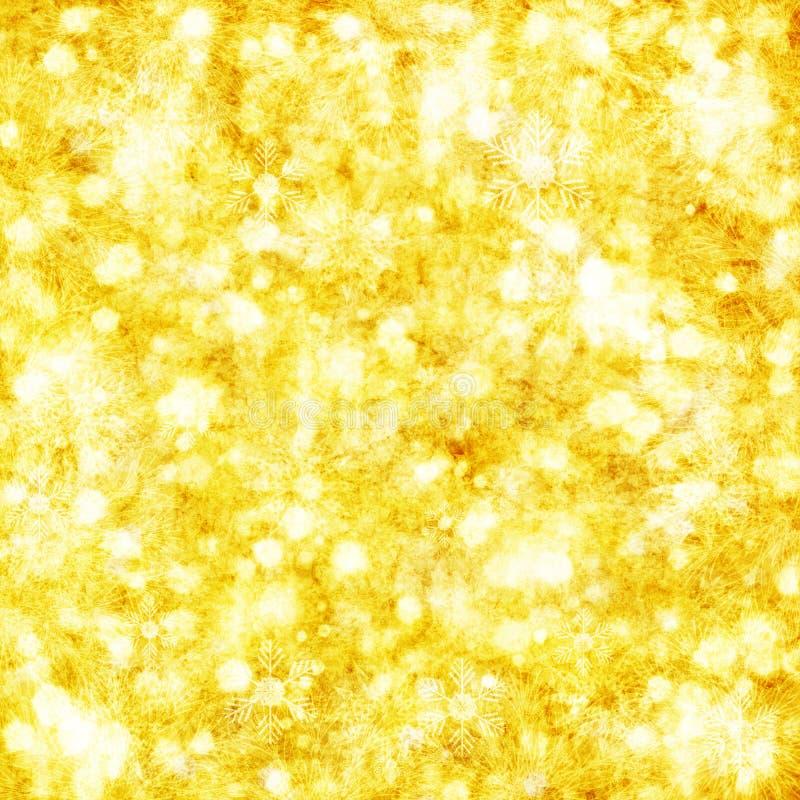 Gouden Kerstmisachtergrond vector illustratie
