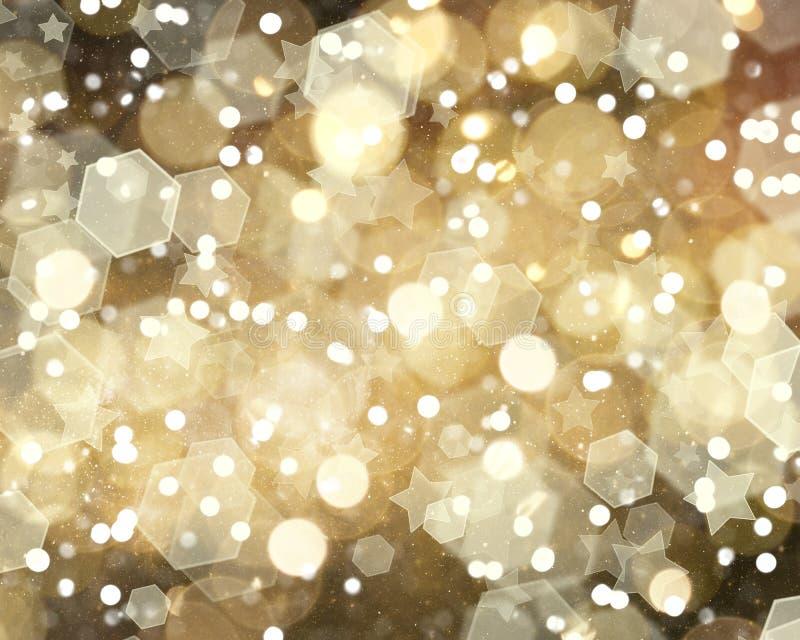 Gouden Kerstmisbackground vector illustratie
