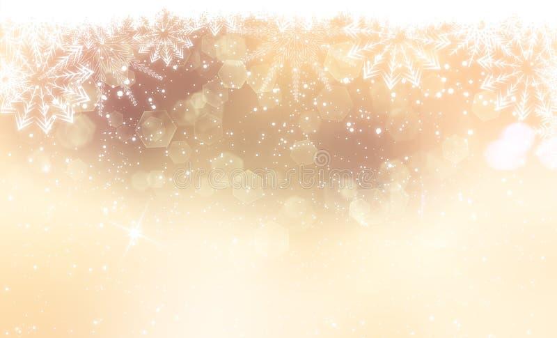 Gouden Kerstmisbackground stock illustratie