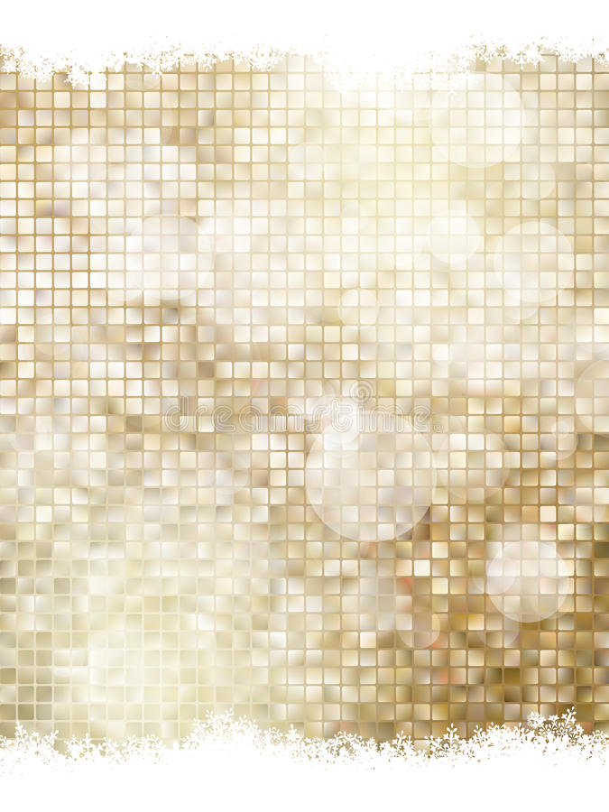 Gouden Kerstmisbackground Eps 10 stock illustratie