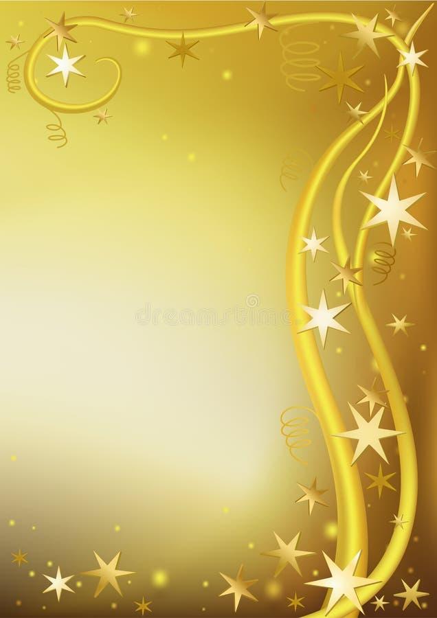 Gouden Kerstmisgroet royalty-vrije illustratie