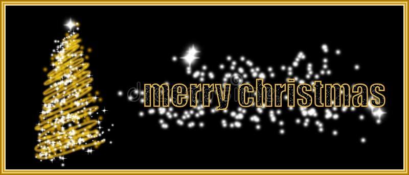 Gouden Kerstmiskaart vector illustratie