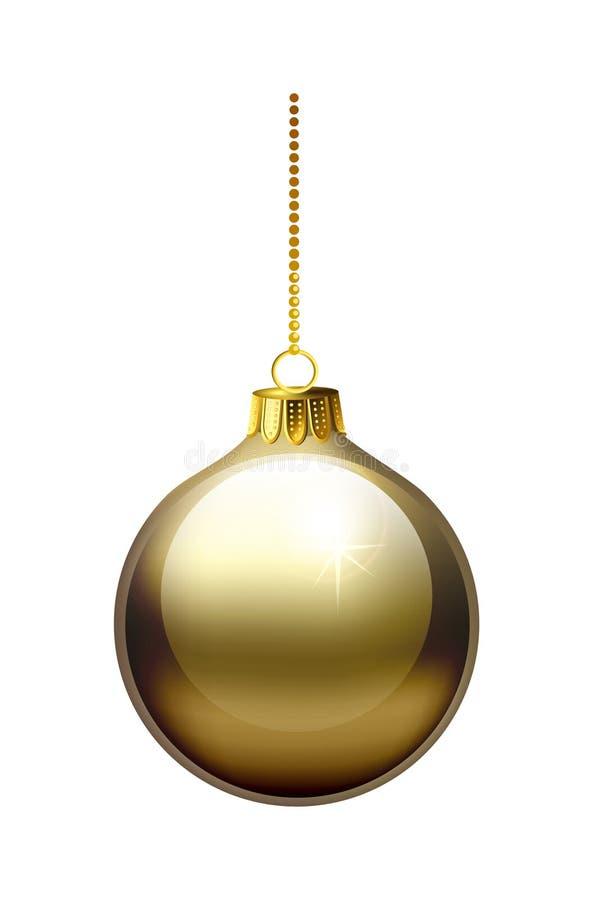 Gouden Kerstmissnuisterij stock illustratie