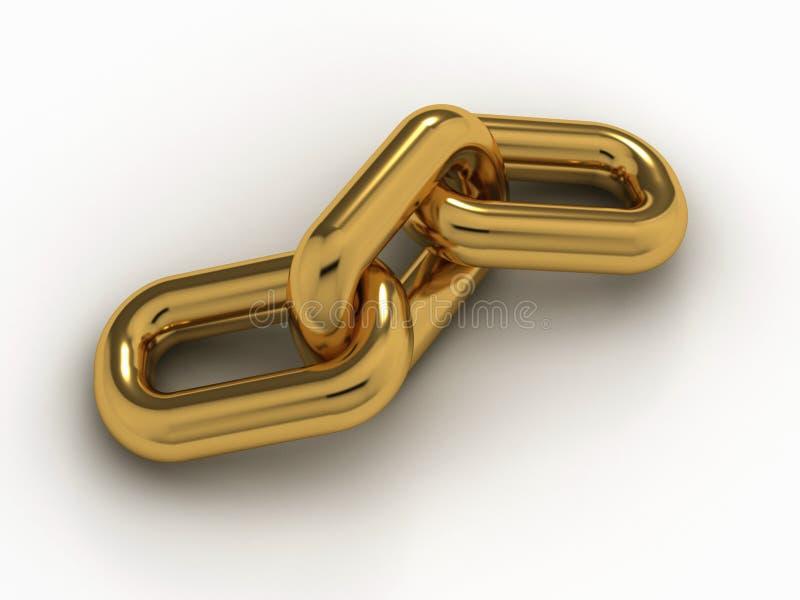 Gouden ketting royalty-vrije illustratie