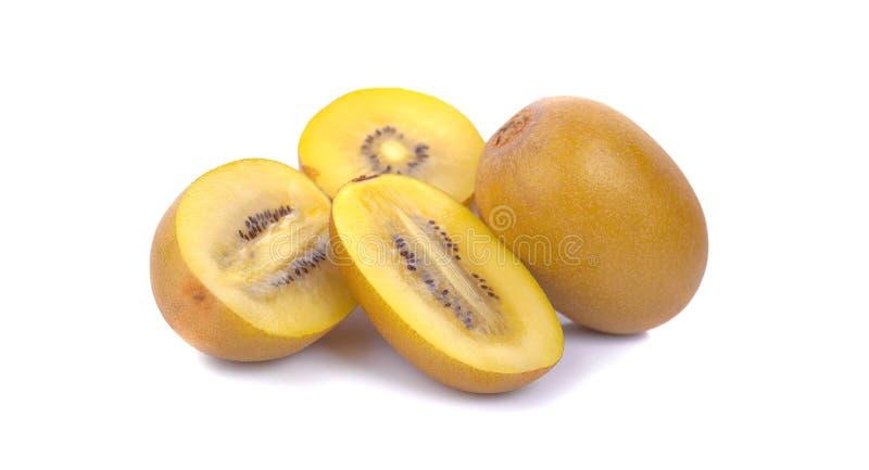 Gouden kiwifruit op een witte achtergrond royalty-vrije stock foto