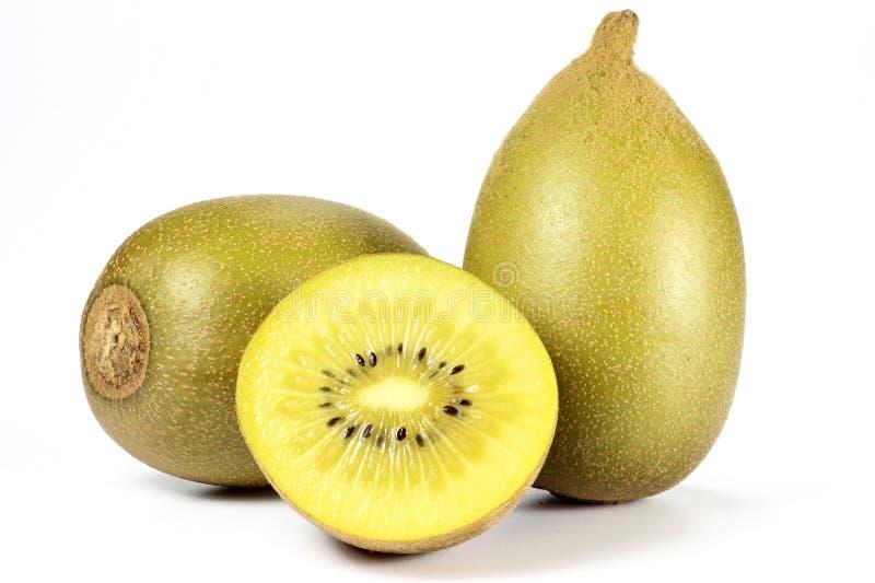 Gouden kiwifruits stock foto