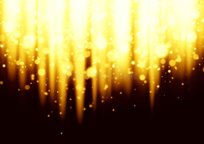 Gouden kleur gebroken lichte achtergrond royalty-vrije illustratie