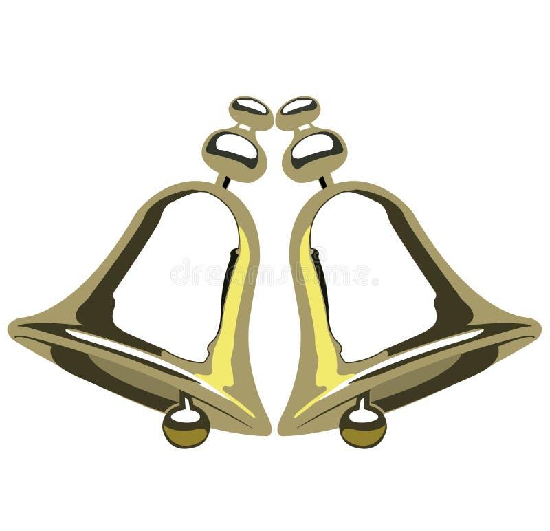 Gouden klokken royalty-vrije illustratie