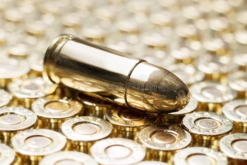 Gouden kogels stock afbeelding