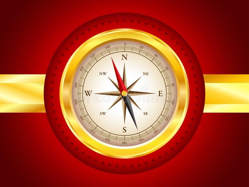 Gouden kompas stock fotografie