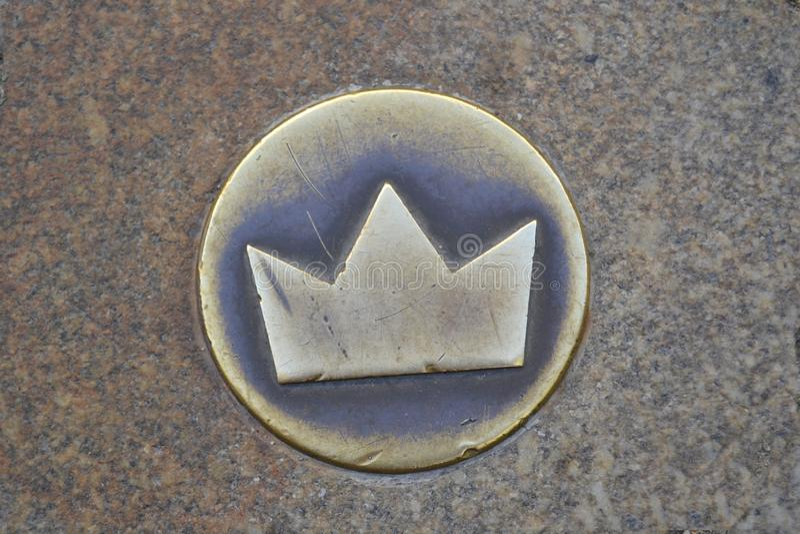 Gouden koninklijke kroon stock foto