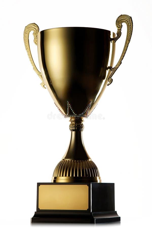 Gouden kop van de winnaar royalty-vrije stock afbeeldingen