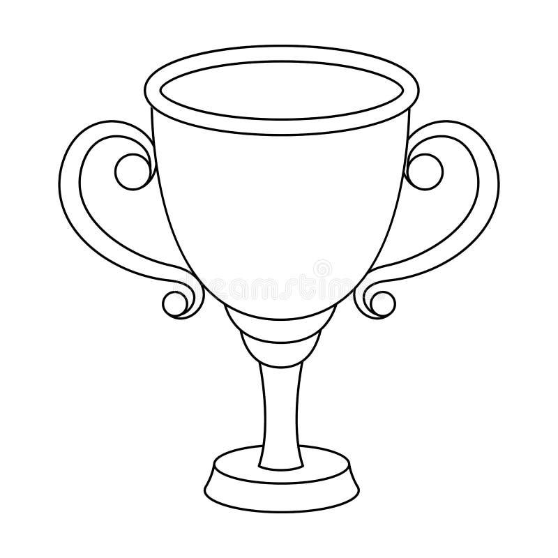 Gouden Kop voor de eerste plaats De toekenningswinnaar van de het rennen concurrentie De toekenning en de trofeeën kiezen pictogr stock illustratie