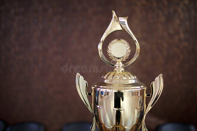Gouden kop voor winnaar 1st plaatsbeloning royalty-vrije stock foto's