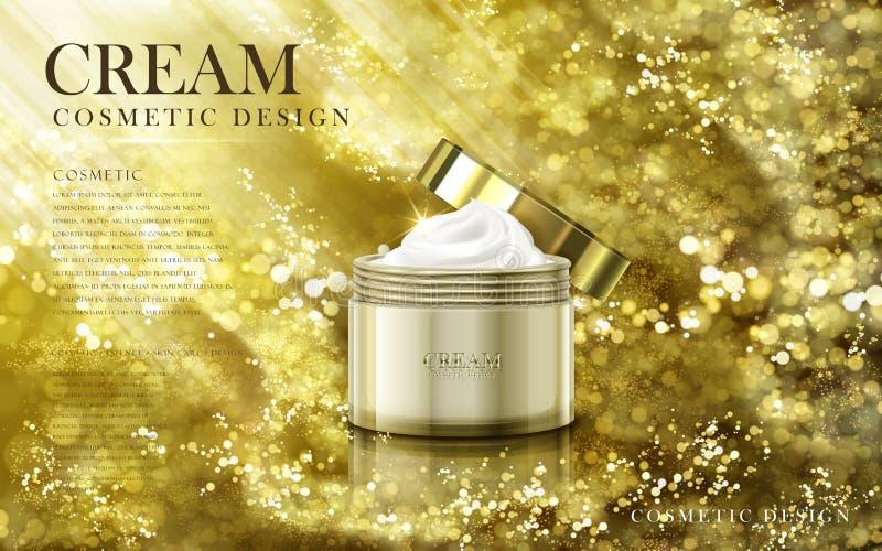 Gouden kosmetische room royalty-vrije illustratie
