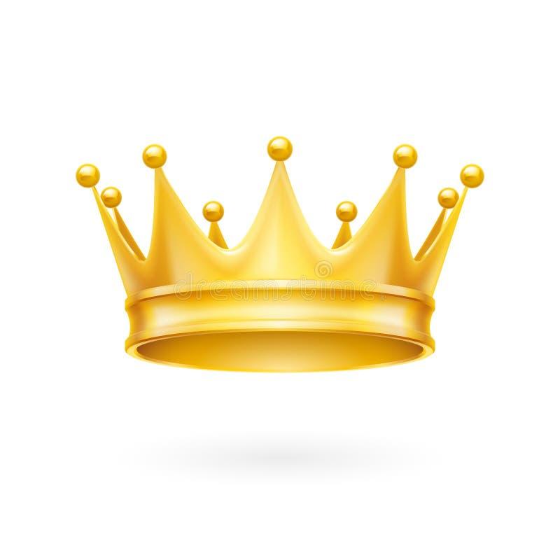 Gouden kroon stock illustratie