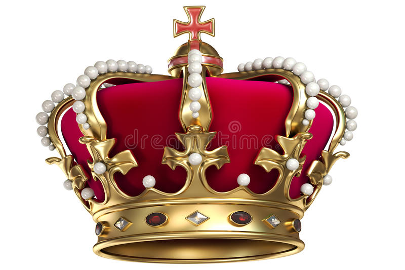 Gouden kroon met gemmen vector illustratie