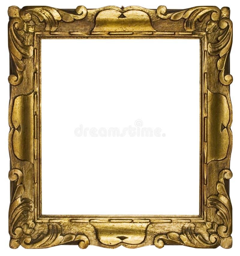 Gouden Kubiek van de omlijsting (Inbegrepen Weg) royalty-vrije stock foto's