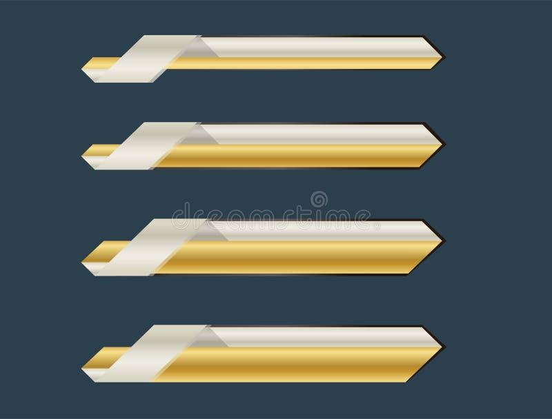 Gouden lagere derde banner royalty-vrije stock afbeeldingen