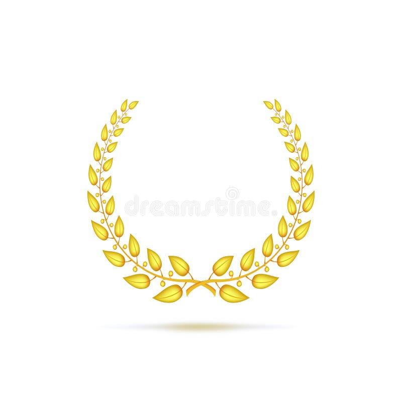 Gouden lauwerkrans vector illustratie