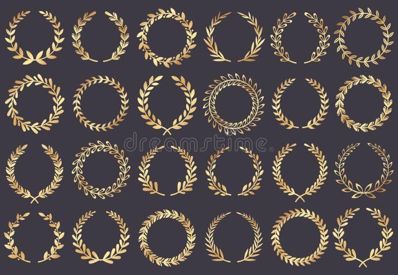 Gouden lauwerkrans De toekenning van het filmfestival, toegekende winnaaractrice, van het de filmblad van Cannes het symbool vect royalty-vrije illustratie